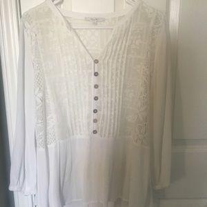 Miss Me brand. Long sleeve white blouse.